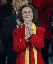 La Reina de España celebra la victoria contra Alemania