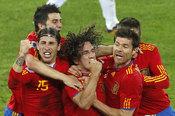 La fuerza de Puyol en el gol contra Alemania