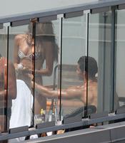 Cristiano Ronaldo coquetea con su novia, Irina Shayk