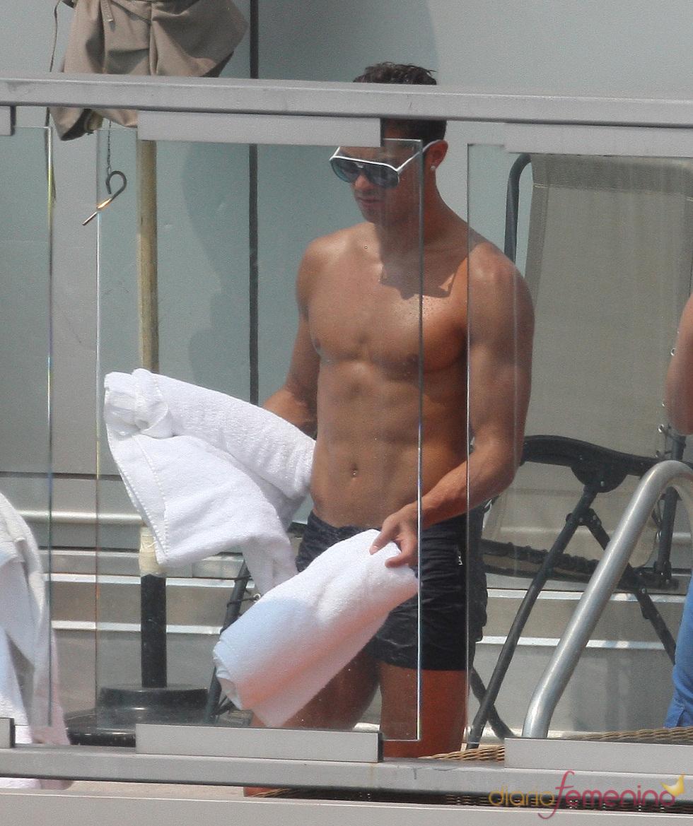 Un día de piscina con Cristiano Ronaldo