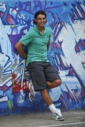 Rafa Nadal con look deportivo
