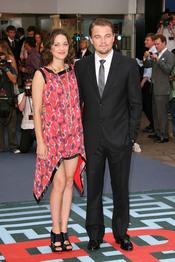 Leonardo Di Caprio y Marion Cotillard en el estreno de 'El origen' en Londres