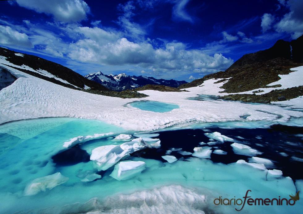 Camino de aguas salvajes en el Tirol