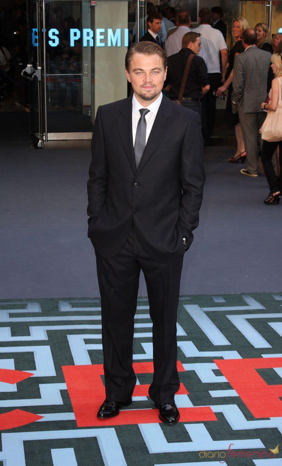Leonardo Di Caprio en el estreno de 'El origen' en Londres