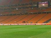 Todo preparado en el estadio Soccer City para la final del Mundial 2010
