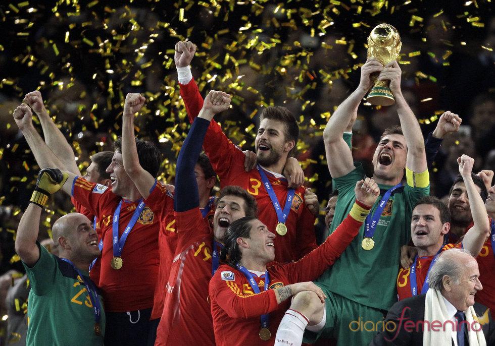 El campeón del mundo Iker Casillas en Sudáfrica