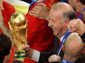 Vicente del Bosque es campeón del mundo de fútbol en Sudáfrica