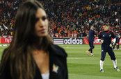 Sara Carbonero e Iker Casillas en el España Holanda
