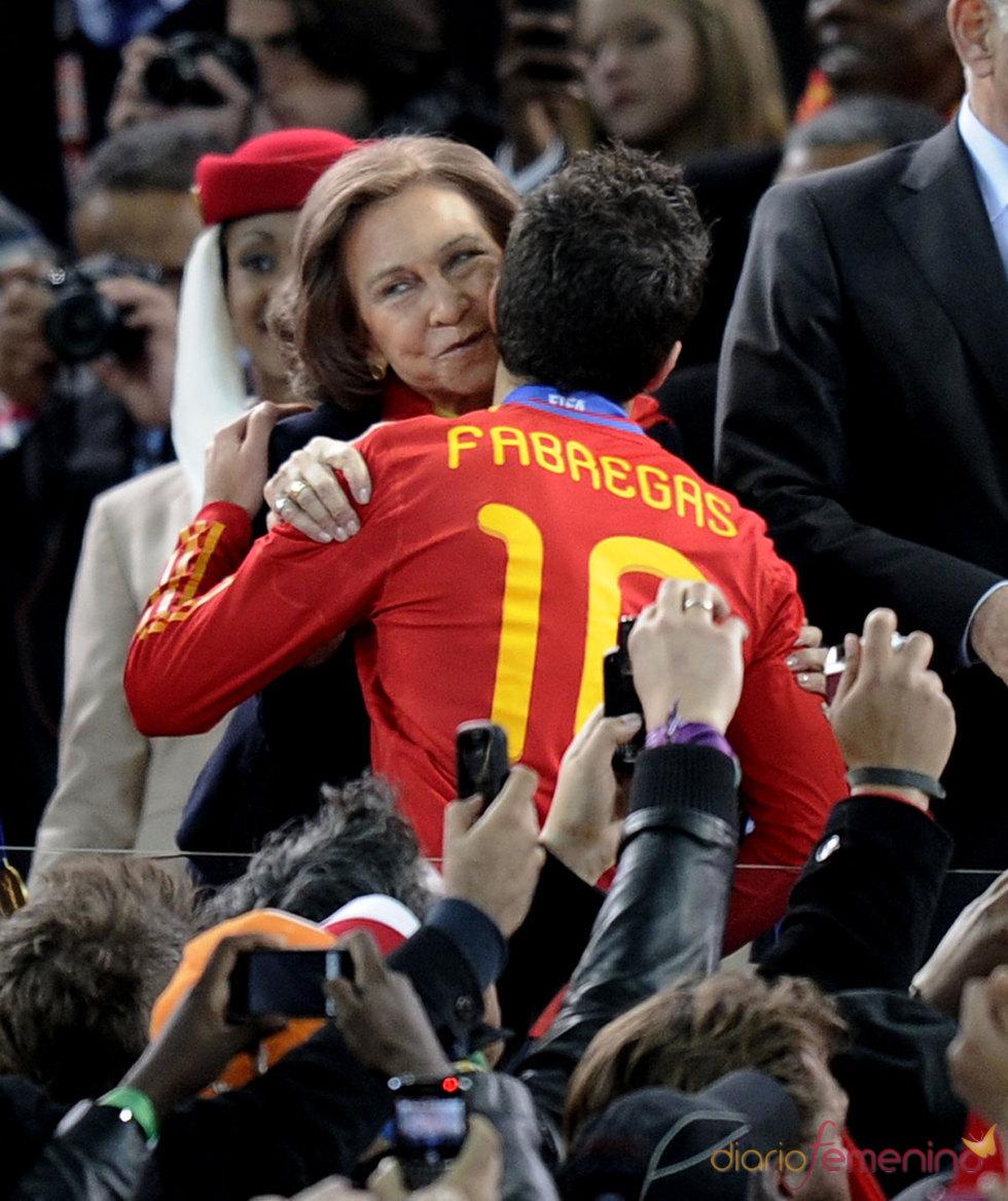La emoción de la Reina Sofía en la victoria de España contra Holanda