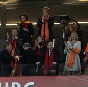 Los príncipes de Asturias y los de Holanda animan a sus equipos