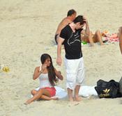 Leo Messi y Antonella Rocuzzo, relax en Brasil