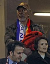 Morgan Freeman en la final de Sudáfrica
