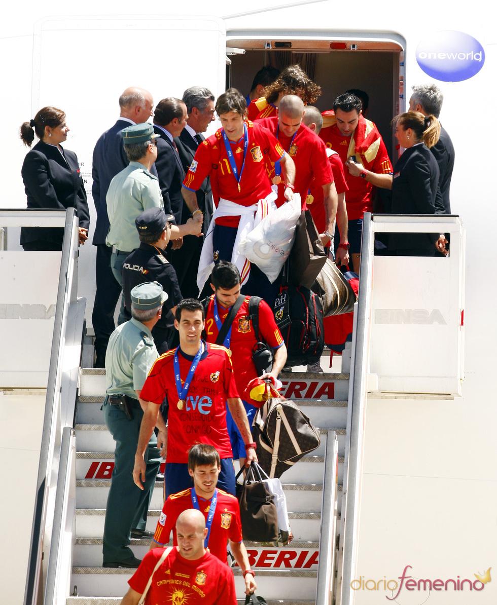 La selección española llega a casa tras ganar el Mundial