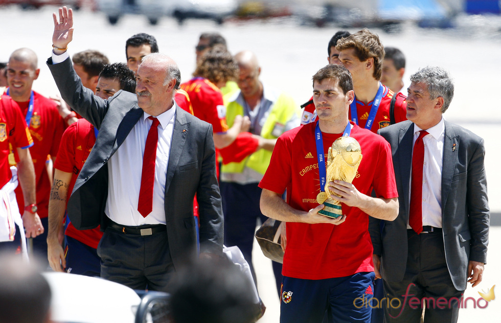 'La Roja' aterriza en Madrid como campeona del mundo
