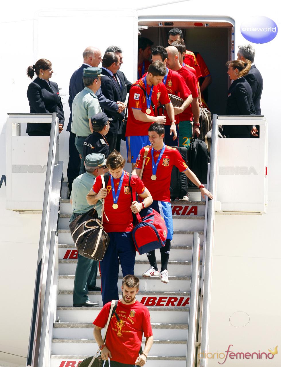 Los campeones del mundo de fútbol están en Madrid