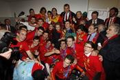 La casa real celebra la Copa del Mundo con la selección