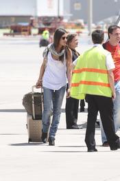 Sara Carbonero llega a Madrid con la selección