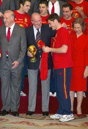 Iker Casillas con el Rey Juan Carlos