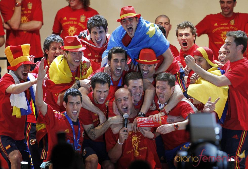 Los campeones del mundo celebran su triunfo en Madrid