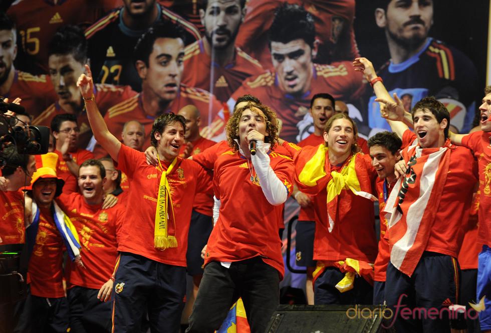 David Bisbal canta con la Selección en Madrid