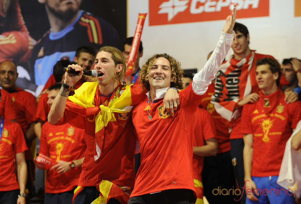 David Bisbal a dúo con Sergio Ramos