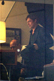 Brad Pitt en el rodaje de 'Moneyball'