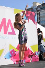 La presentadora Paula Vázquez en los nuevos castings de Fama