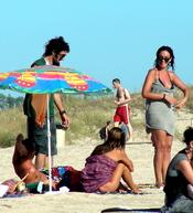 Días de relax para Melanie Olivares en Cádiz