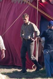 Robert Pattinson en el rodaje de 'Water for elephants'