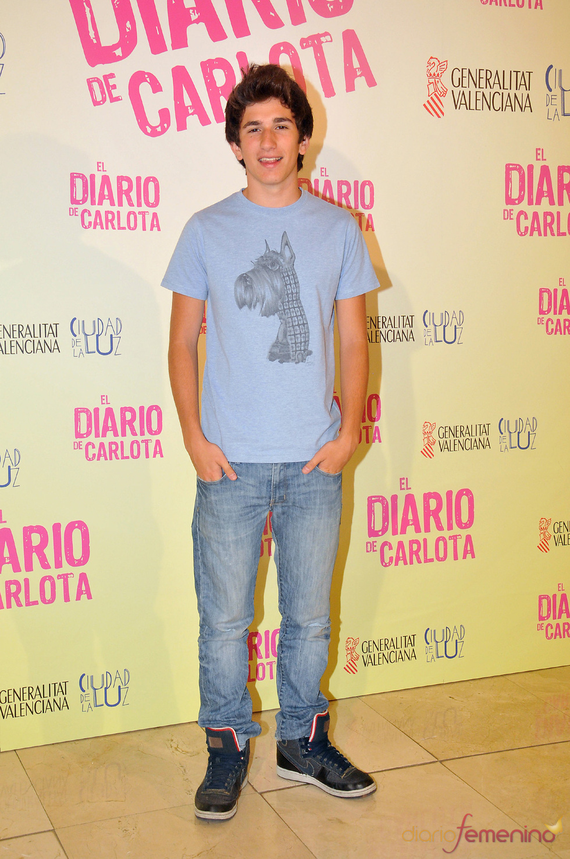 David Castillo, en el estreno de la película 'El diario de Carlota'