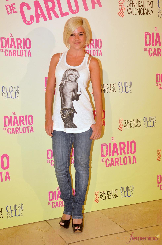 Lydia Fairen en el estreno de la película 'El diario de Carlota'