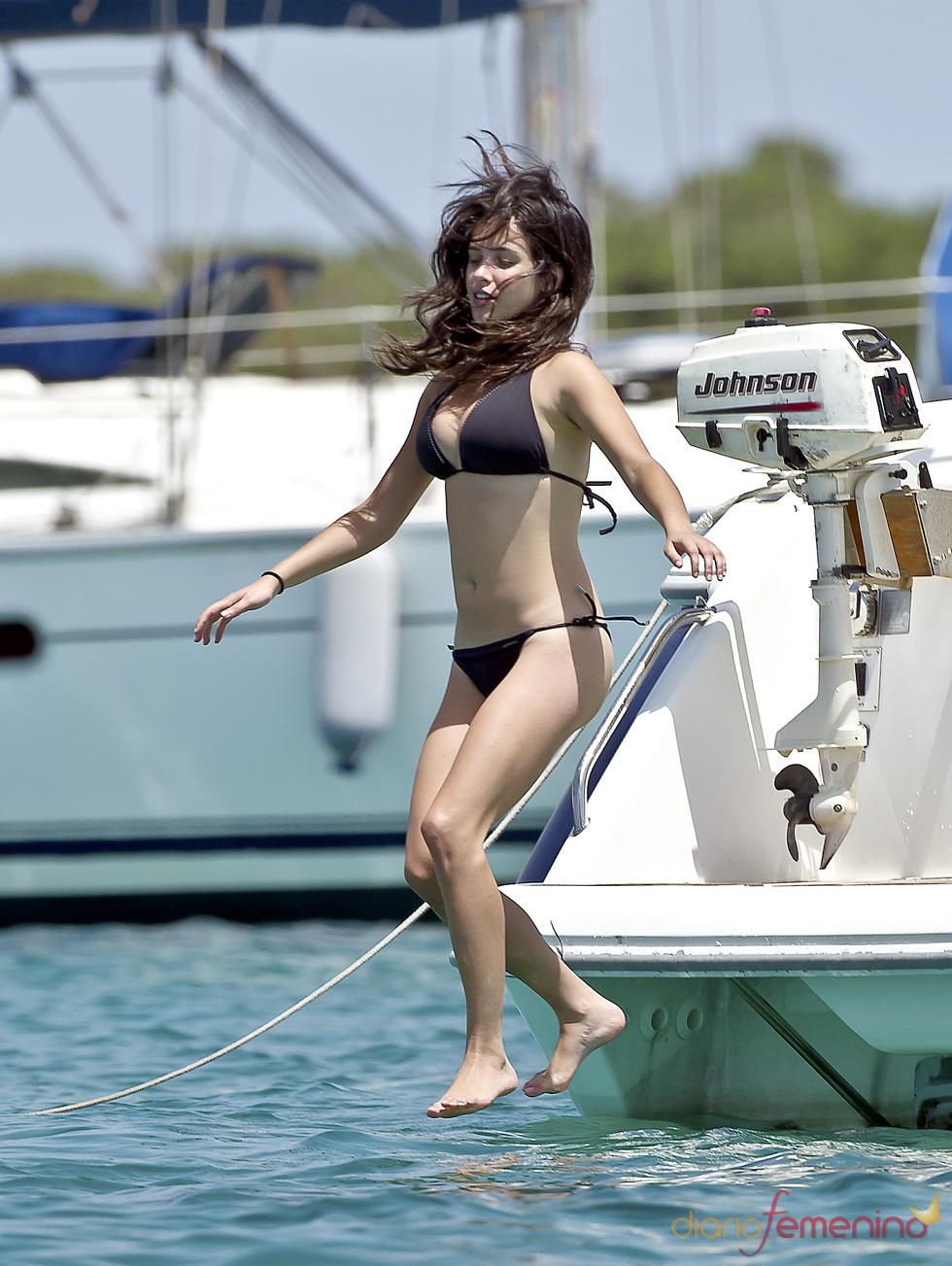 Paula Prendes, al agua patos