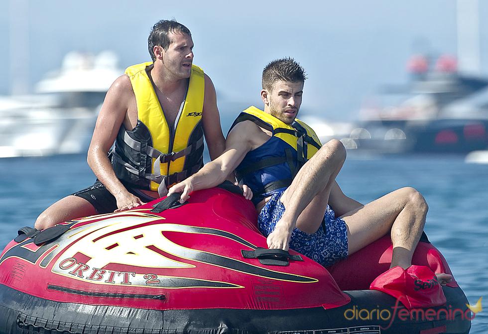 Gerard Piqué, en moto acuática