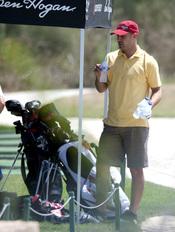 Pepe Reina se relaja con el golf en Palma de Mallorca