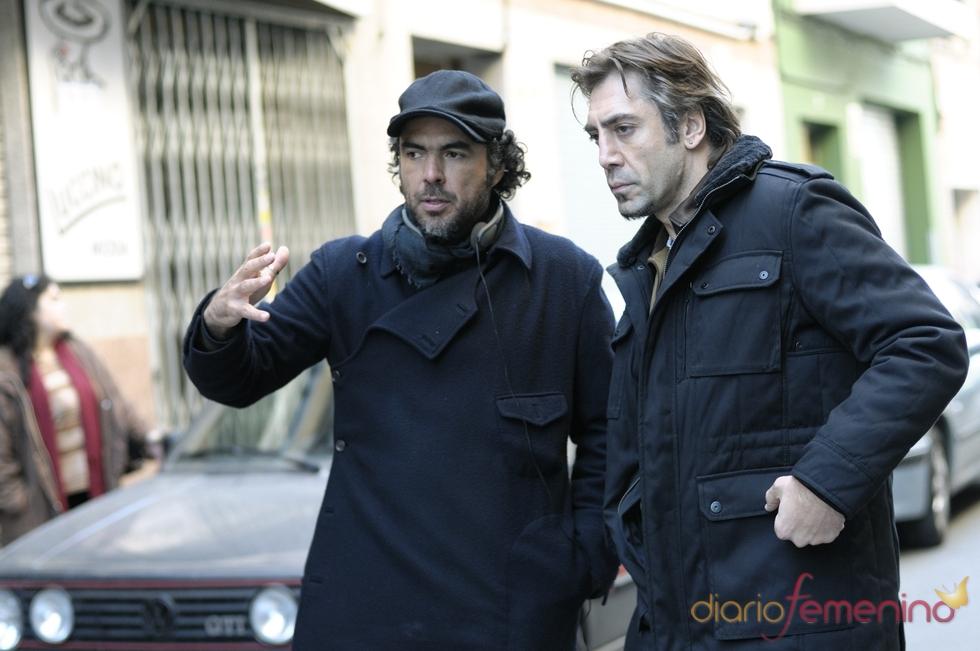 Javier Bardem y Alejandro González Iñárritu, rodando 'Biutiful'