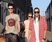 Bill Kaulitz reaparece muy delgado en Italia