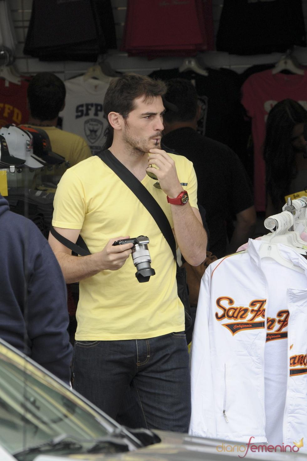 Iker Casillas, un turista en San Francisco