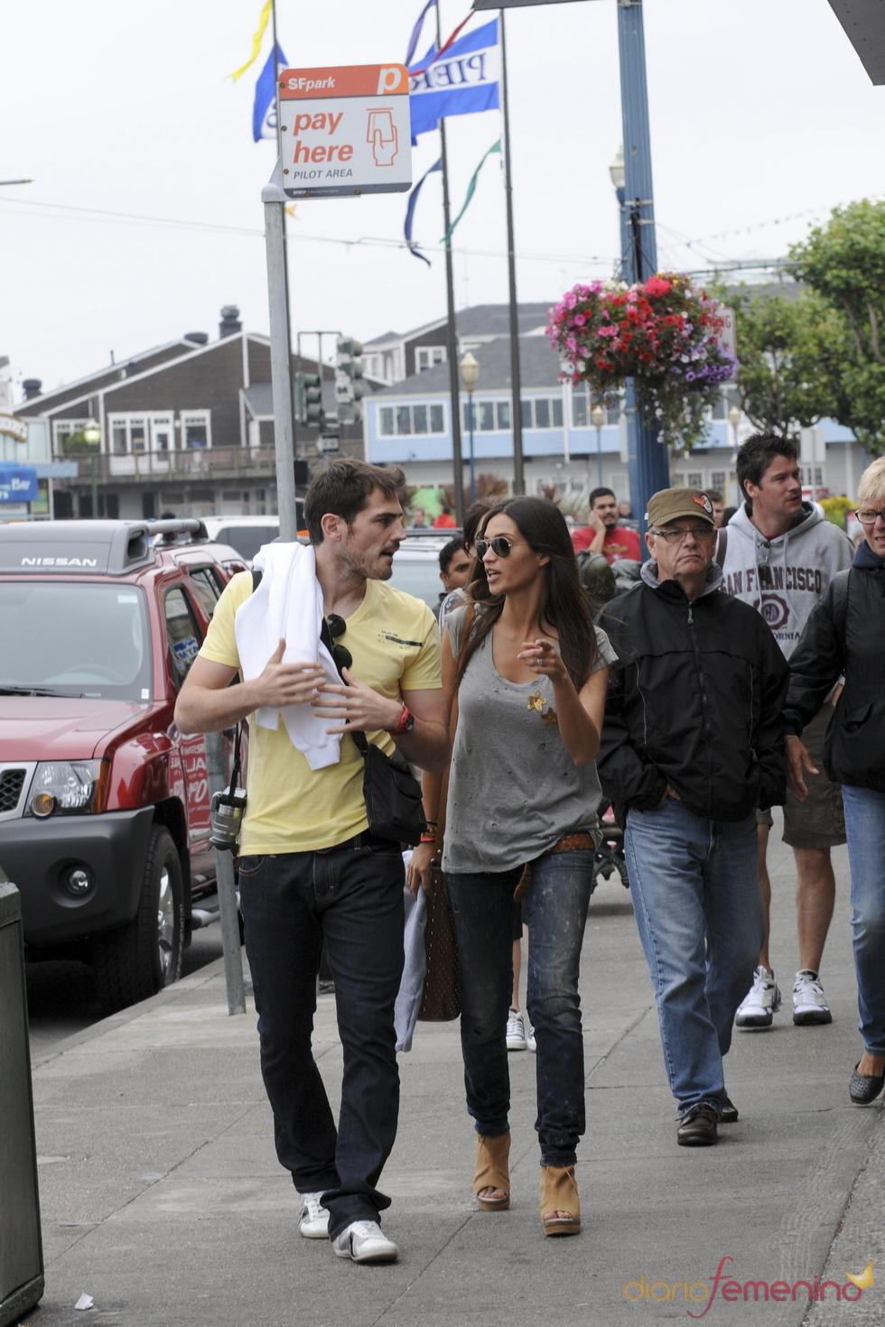 Iker Casillas y Sara Carbonero, de paseo por San Francisco