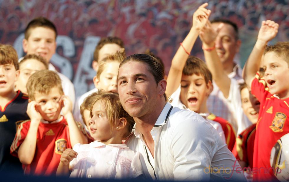Sergio Ramos homenajeado en Camas