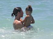 El lado más tierno de Sergio Ramos en la playa