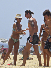 Sergio Ramos se divierte en Cádiz