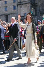 El Rey y la Reina en los actos del día de Santiago