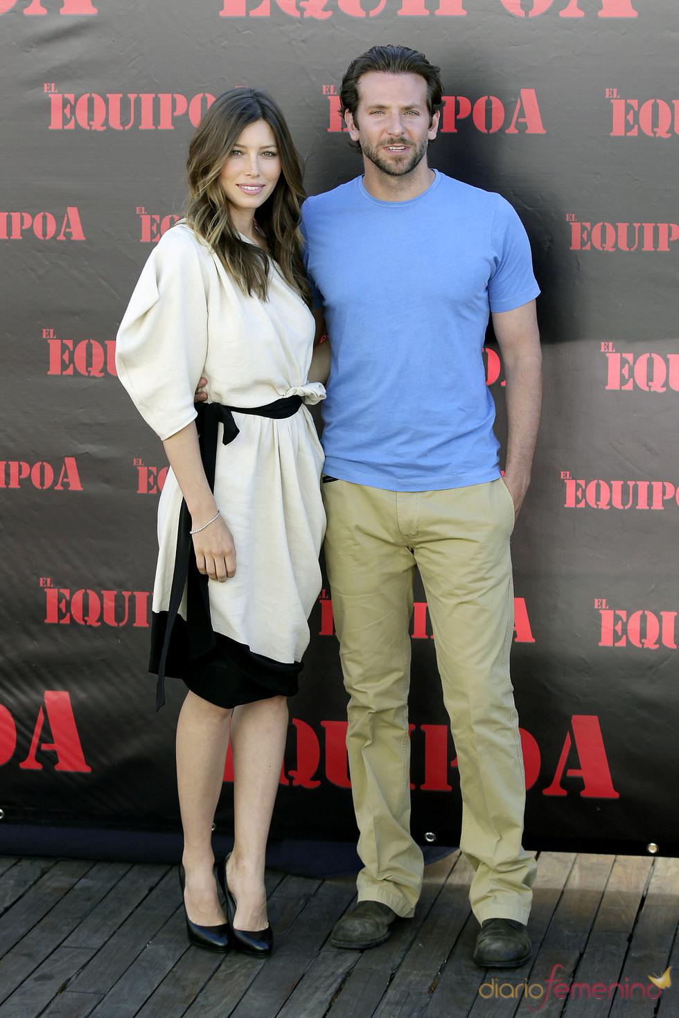 Bradley Cooper y Jessica Biel visitan España para promocionar 'El equipo A'