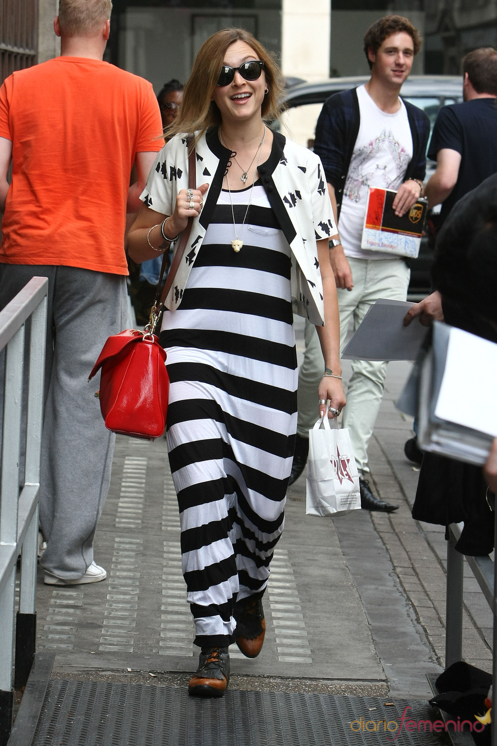 Fearne Cotton, a rayas