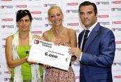 Belén Esteban y sus sartenes donan 6.000 euros a la Fundación Bobath