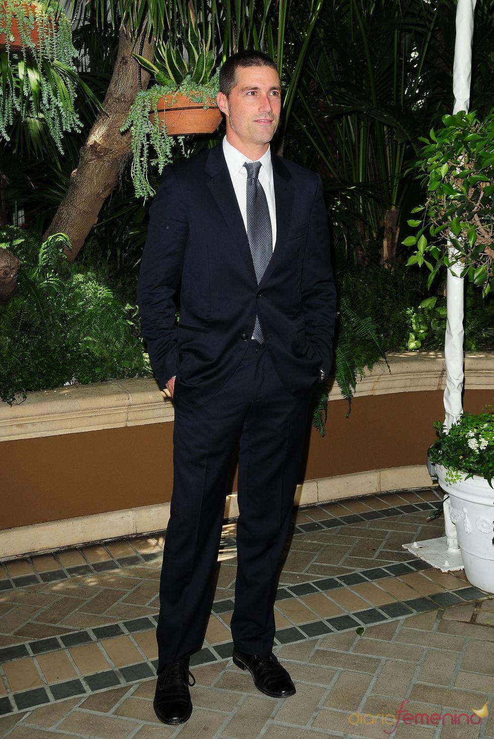 Matthew Fox, ahora ya fuera de la isla, en el almuerzo de la HFPA