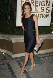 Eva Longoria deslumbrante a su llegada al almuerzo de la HFPA