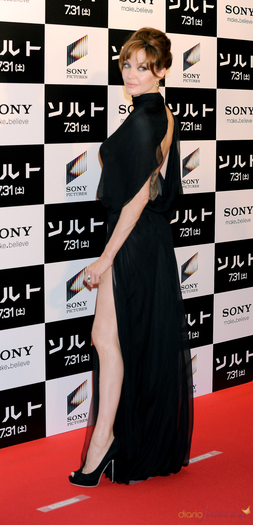 Angelina Jolie presenta 'Salt' en Tokio
