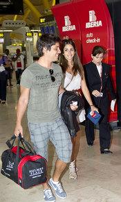 Elena Furiase con su novio Leo de la Torre
