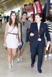 Elena Furiase y novio Leo de la Torre en Madrid